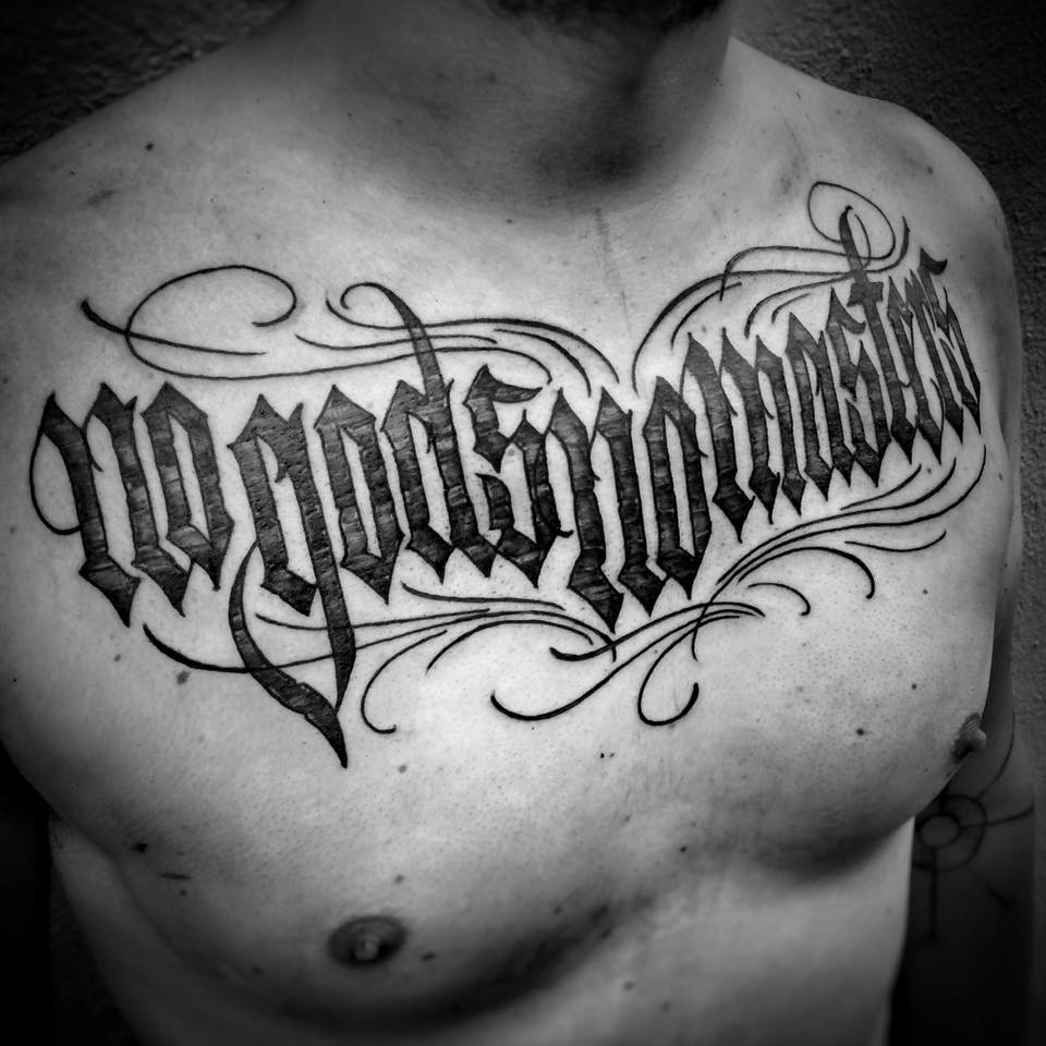 no-god-no-master-tattoo-bw
