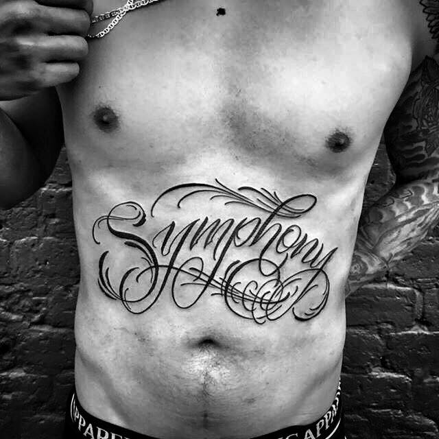 symphony_lettering tattoo